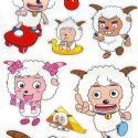 radiant lamb stickers (JDC152)